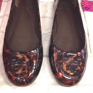 af69cf68fb9e Tory Burch Shoes - TORY BURCH MINNIE TRAVEL BALLET FLATS TORTOISE